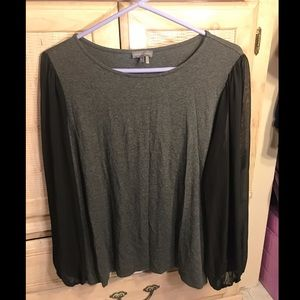 Vince Camuto Black & Gray Top Blouse size 1X